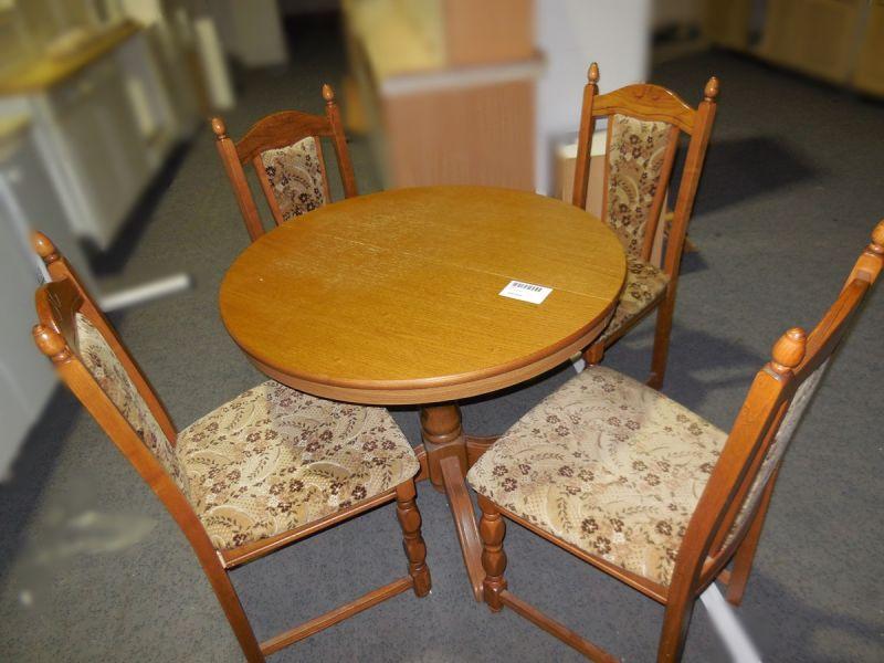 Esstisch rund & 4 Stühle gebraucht Dresden  Ankauf und  ~ Esstisch Und Stühle Gebraucht