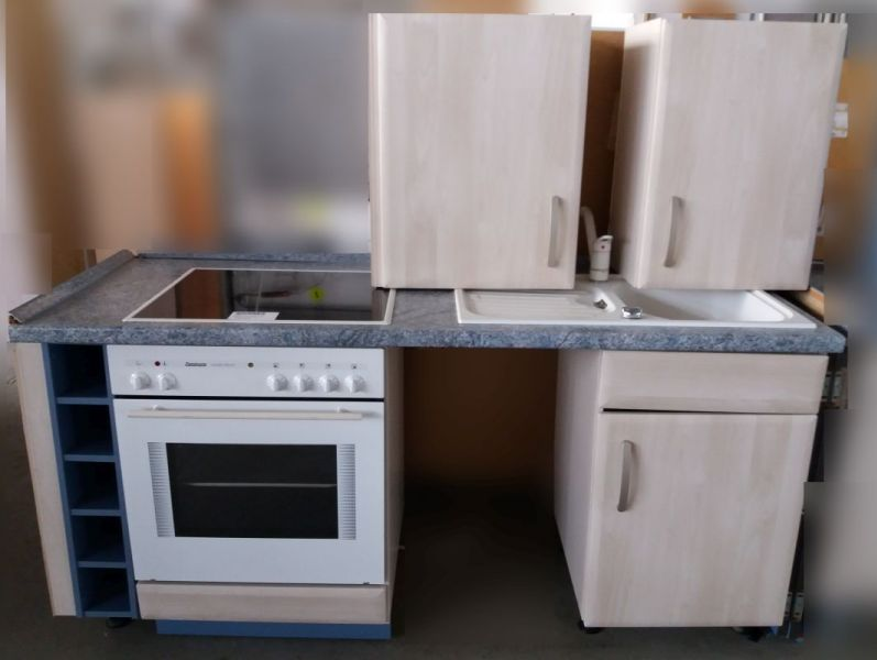 ... Küchenzeile Mit Spüle, Herd Mit Cerankochfeld,  Einbaukühlgefrierkombination, DAH, Geprüft Mit Gewährleistung, ...